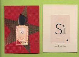 "ARMANI ""  SI "" EDP * V/R + PATCH - Cartes Parfumées"