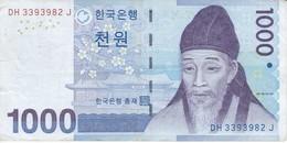 BILLETE DE COREA DEL SUR DE 1000 WON DEL AÑO 2007 (BANKNOTE) - Corée Du Sud