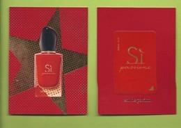 """ARMANI """" SI  PASSION  """" EDP * V/R + PATCH - Cartes Parfumées"""
