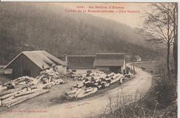 Au Ballon D'Alsace Vallée De La Rosemontoise  Une Scierie ( Usine Atelier ..) Circulée - Autres Communes