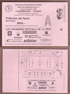 AC -  LUXEMBOURGvs RUSSIA FOOTBALL - SOCCER TICKET 10 NOVEMBER 1996 - Tickets D'entrée