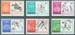 REPUBLIQUE RWANDAISE - 1968 - MNH/*** - OLYMPIC GAMES MEXICO - COB 263-268 Yv 263-268 - Lot 20741 - 1962-69: Neufs