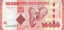Tanzania 10.000 Shillings, P-44a (2010) - UNC - Tansania