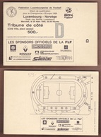 AC -  LUXEMBOURGvs NORWAY FOOTBALL - SOCCER TICKET 29 MAY1995 - Tickets D'entrée