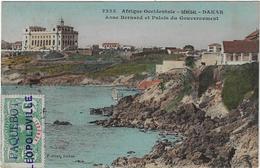 CPA Senegal Dakar Anse Bernard Et Paleis Du Gouvernement 'Paquebot Leopoldville' 1912 Afrique Occidentale (2 Scans) - Sénégal