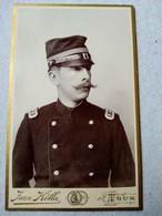 CDV Portrait Militaire SUISSE - Officier - Capitaine - Photo J. Kolla, THUNE / THOUNE - TBE - Guerre, Militaire