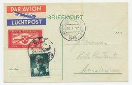 VH A 206 B Lissabon Portugal - Amsterdam 1946 - Periode 1891-1948 (Wilhelmina)