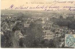 CPA - TOURS A VOL D'OISEAU - LA GARE (1908) - Tours