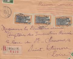 LETTRE. TOGO. RECOMMANDÉ SOKODE POUR ST ETIENNE . 1,80F. 5 TIMBRES /   2 - Togo (1914-1960)