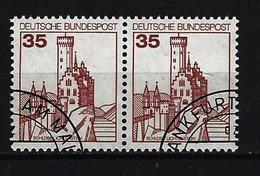 BUND - Mi-Nr. 1139 Waagrechtes Paar Gestempelt - Gebraucht