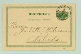 Sweden, Carte Postale, Brefkort, 1905, Hasselblad & Co, 5 öre Green, Västervik Cancellation - Sweden