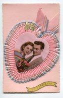 STE SAINTE CATHERINE 0027 Carte Systeme Tirette Effet POP  UP  Coeur Rose Couple Amoureux - Santa Catalina