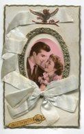 STE SAINTE CATHERINE 0034 Couple Amoureux Cadre Doré Long Rubab Bleu - Santa Catalina