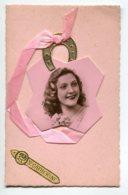 STE SAINTE CATHERINE 0035 Portrait En Ajouti Fer à Cheval Ruban Rose - Santa Catalina