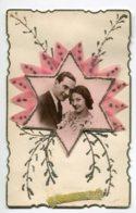 STE SAINTE CATHERINE 0037 Carte Systeme Tirette Effet POP  UP    Couple Amoureux   Etoile Mousseline Rose Petits Brillan - Santa Catalina
