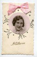 STE SAINTE CATHERINE 0048  Jeune Fille  Portrait Ruban Rose Petits Brillants  S - Santa Catalina