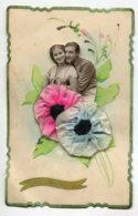STE SAINTE CATHERINE 0055 Ajoutis Collages Portrais Amoureux Fleurs Tissus écrite 1936 - Santa Caterina