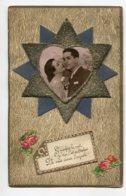 ST SAINT NICOLAS 0054   Ajoutis Etoiles Petits Brillants Couple Amoureux   écrite - San Nicolás