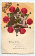 ST SAINT ELOI 0057 Carte à  Systeme Tirette Effet POP  UP Relief  Etoile Amoureux Etoiles Tissu Et Brillants - Holidays & Celebrations
