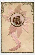 FANTAISIE AJOUTIS COLLAGES 0077 Couple Amoureux  Ruban Rose Bords Dorures - Móviles (animadas)