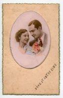 STE SAINTE CATHERINE 0081 Portrait Couple Amoureux écrite Voir Dos - Santa Catalina