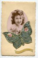 ST SAINT NICOLAS 0083   Ajoutis Papillons Jolies Ailes Portant Jeune Fille Aimée  écrite Voir Dos - San Nicolás