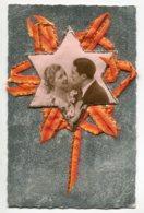 STE SAINTE CATHERINE 0085 Carte Systeme Tirette Effet POP  UP   Etoile Couple Amoureux Rubab Bicolore Orange Jaune éAile - Santa Catalina