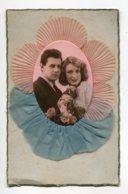 FANTAISIE AJOUTIS COLLAGES 0088  Couple Amoureux Mousseline Bleu Et Rose - Móviles (animadas)