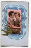 FANTAISIE AJOUTIS COLLAGES 0087 Carte Double Avec Livret Mousseline  Bleue Colombe Dorée    écrite - Móviles (animadas)