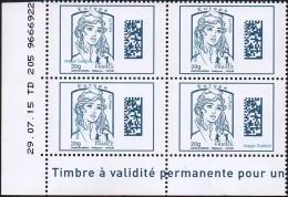 France Coin Daté N° 4975 ** Marianne De Ciappa Et Kawena Datamatrix Europe - Du 29.07.2015 - 2010-....
