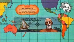 Black19-004 MDB MINT ¤ SAMOA I SISIFO 1974 BLOCK ¤ VOILIERS - ZEILSCHEPEN - SHIPS - - Maritiem