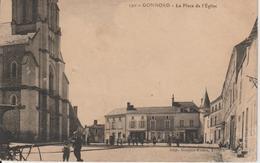 2 CPA GONNORD Chapelle De Pitié  La Place L'église Circulée - France