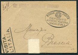"1939 Italy 42nd Regiment Fanteria ""Modena"" Regie Poste Deposito, Genova - Sturla - Marcophilia"