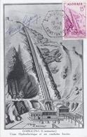 ALGERIE  : Carte Maximum Usine Hydroélectrique De Darguina  Cachet Hexagonal 1er Jour De 1954 - Tarjetas – Máxima