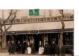 CHARTRES. - CAFE De L'OUEST ET DE L'ETAT, CAFE VALETTE, Vers 1910, Place De La Gare, Photo. SCANS Recto-verso - Chartres