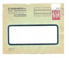 N° 925 Boudewijn/Marchand 2 Fr. Plaatnummer 2 Op Voorzijde/front De Lettre  9.IX.1957 - Covers & Documents