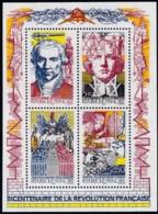 Frankreich, 1990, 2803/06 Block 10, MNH ** ,  Französischen Revolution - Blocs & Feuillets