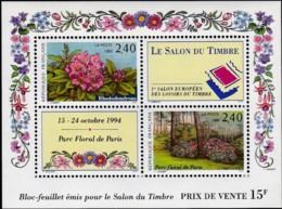 Frankreich, 1993, 2894/95 Block 13, MNH ** ,  SALON DU TIMBRE, Paris. - Blocs & Feuillets