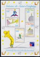Frankreich, 1998, 3316/20 Block 18, MNH ** , Antoine De Saint-Exupéry. - Mint/Hinged