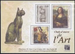 Frankreich, 1999, 3375/77 Block 20, MNH ** , PHILEXFRANCE '99, Paris: Meisterwerke Der Kunst. - Mint/Hinged