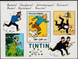 Frankreich, 2000,  3446 Block 22,  MNH **,  Comicfigur Tintin. - Blokken En Velletjes