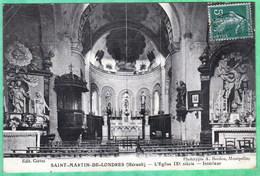 SAINT MARTIN DE LONDRES - L'EGLISE IX° SIECLE - INTERIEUR - France