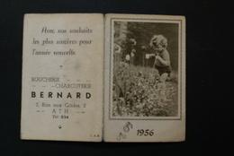 Ath -  Calendrier 1956 Boucherie Bernard (format 9.5   X 12.5 Cm) - Ath