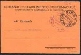 1943 Italy Fieldpost Posta Militaire 10 SEZ. B. Comando 1 Stabilimento Contumaciale - Marcophilia