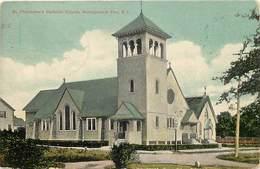 Pays Div-ref W581- Etats Unis D Amerique -usa -united States -narragansett - Philomena S Catholic Church  - - Etats-Unis