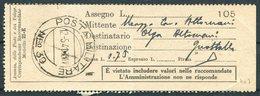 1941/2 Italy Fieldpost Posta Militaire X 2 Money Order Ricevuta PM 18 / PM 39 - Marcophilia