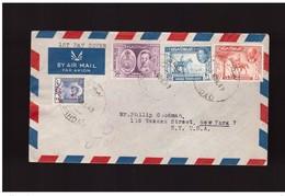 Iraq - 1 11 1949 Fdc Upu Spedita Da Bagdad A New York Con Raccomandata - Iraq