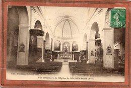 CPA - SOLLIES-PONT (83) - Aspect De L'intérieur De L'Eglise En 1922 - Sollies Pont