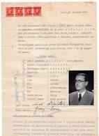 1942 WWII ITALIAN OCCUPATION OF CROATIA,SPALATO,SPLIT,4 REVENU STAMPS,ITALY,ALKALAY DIDO INDENTITY CONFIRMATION - Fiume & Kupa
