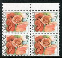 SLOVAKIA 2003 Greetings Stamp  Block Of 4 MNH / **.  Michel 446 - Nuevos